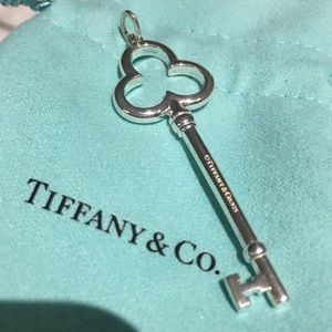 Tiffany & Co. Silver Trefoil Clover Key ❤️